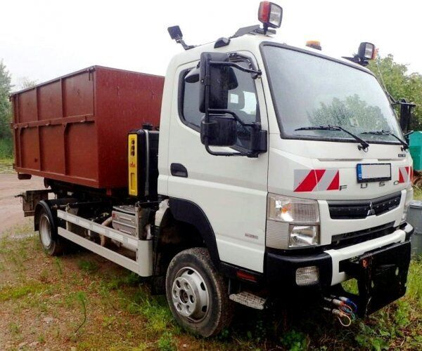camion ampliroll Mitsubishi Fuso 4x4 Canter 6C18 (6.5t) + gritt+garbage NEW