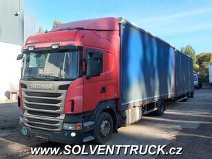camion bâché SCANIA R400,Euro 5, Automat + remorque bâchée