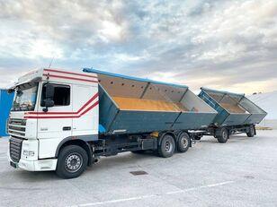 camion-benne DAF  FAR XF105.460  6x2 3 old Billencs Szerelvénnyel