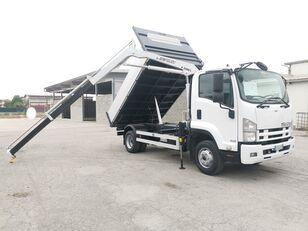 camion-benne ISUZU FRR90 RIBALTABILE TRILATERALE + GRU