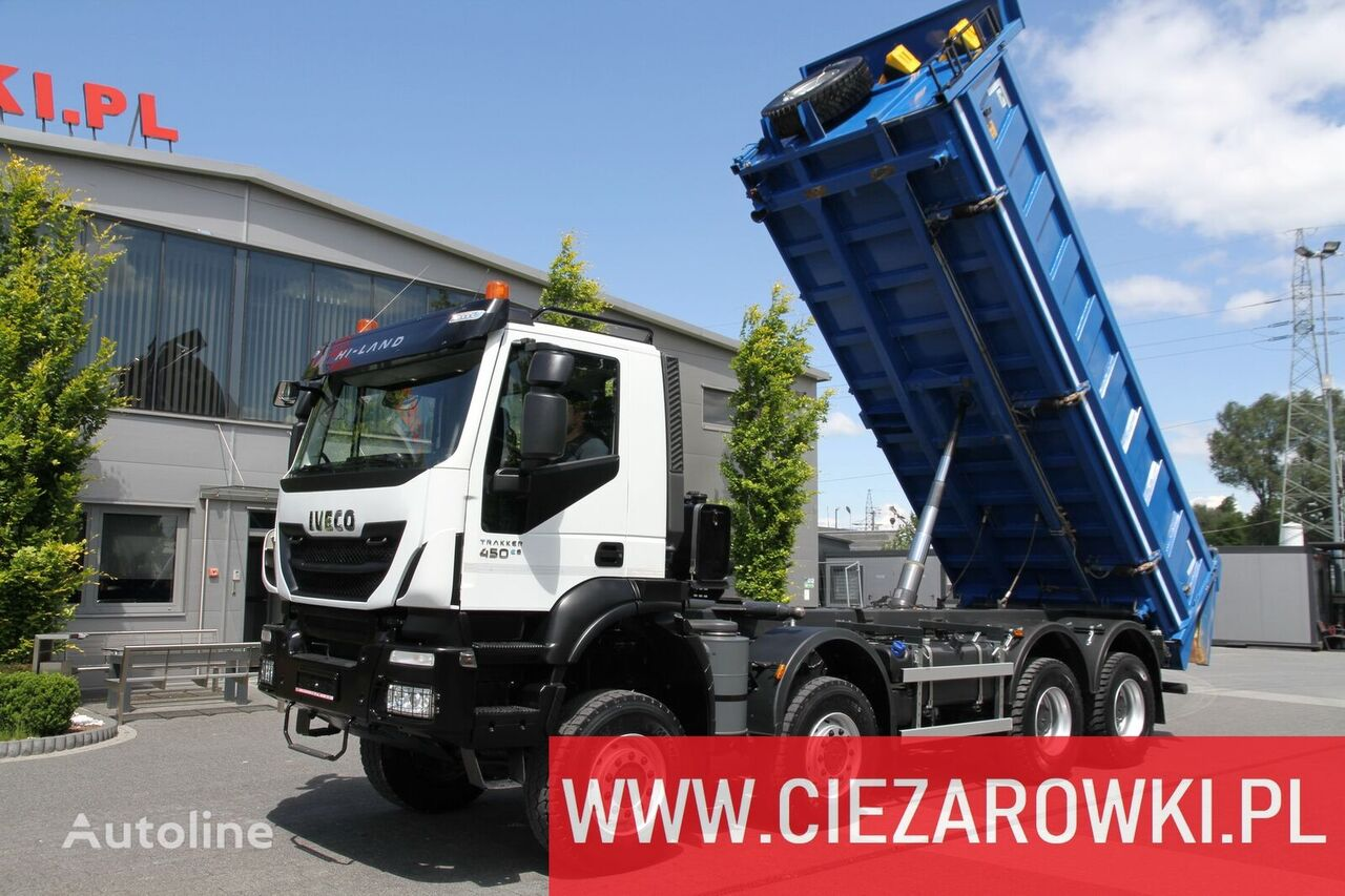 camion-benne IVECO Trakker 450 , E6 , 8x8 , 3-side tipper , retarder 15 UNITS FOR S