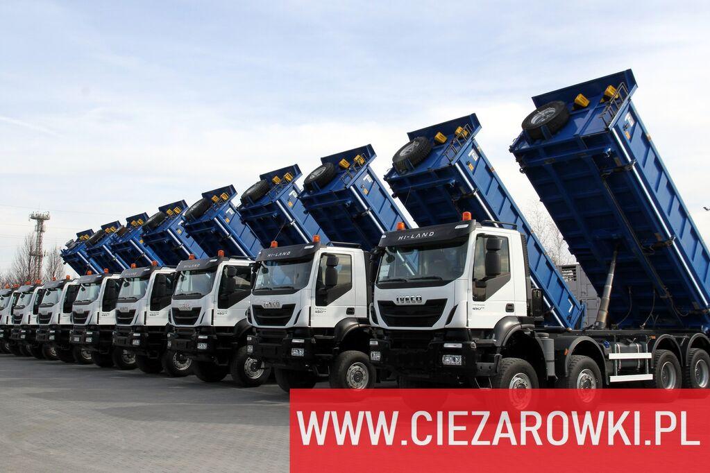 camion-benne IVECO Trakker 450 , E6 , 8x8 , 3-side tipper , retarder 5 UNITS FOR S