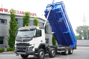 camion-benne VOLVO FMX 410 , E6 , 8X4 , Tipper 20m3 , retarder , low cab , I-SHIFT