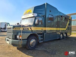 camion bétaillère SCANIA 113 paarden/mobilhome