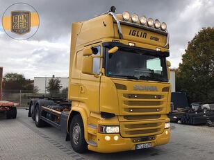 camion porte-conteneur SCANIA R450