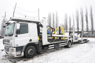 camion porte-voitures DAF CF 75 360 , E5 , 4x2 ,MEGA , LOHR , retarder , sleep cab + remorque porte-voitures