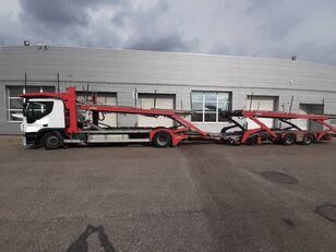 camion porte-voitures IVECO Stralis + remorque porte-voitures