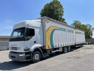 camion rideaux coulissants RENAULT Premium 420 + remorque rideaux coulissants