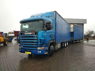 camion rideaux coulissants SCANIA 124 360 zestaw + remorque rideaux coulissants